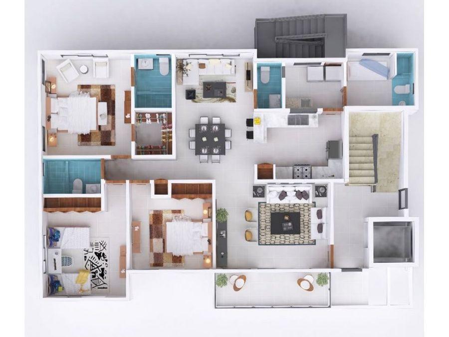 apartamentos en plano en la espanola