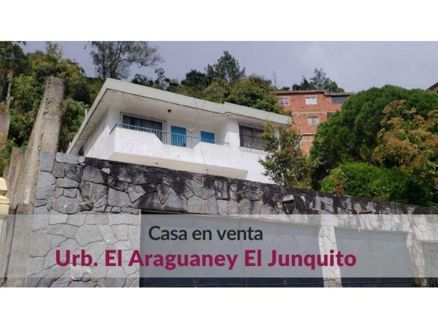 casa con vista panoramica en el junquito