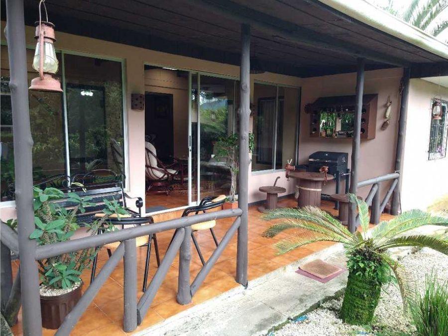 hermosa casa con zonas verdes en la entrada a santiago san ramon