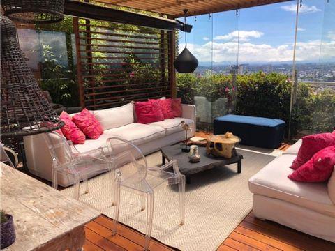 ventarenta ph en rosales 260m2 160 m2 de terraza 3 alcobas
